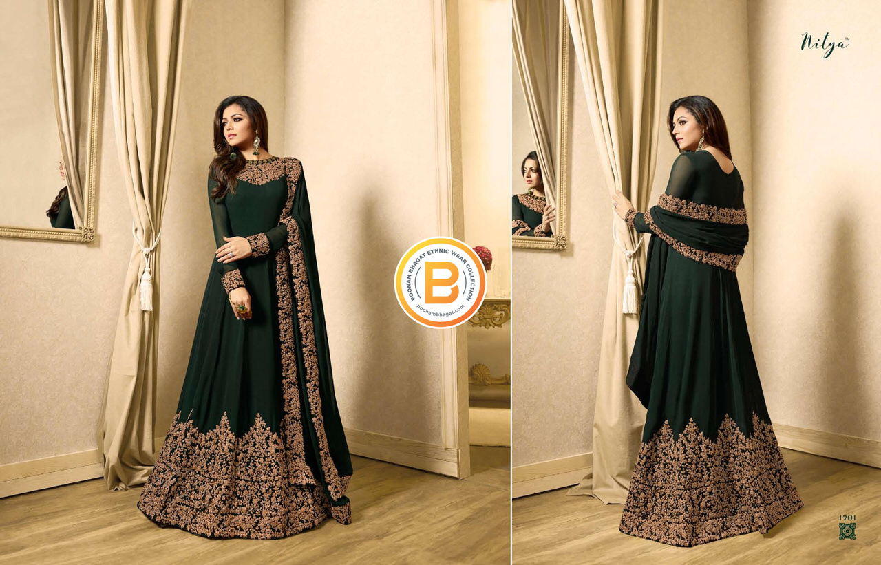 05a56acbc2d NITYA v.117 (Semi Stitched Heavy Embroidery Gown Georgette Silk ...